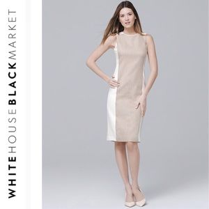 cc1fa1b54aa23 White House Black Market Size 6 Strapless Dress.  40  149. Sleeveless Linen-Blend  Paneled Sheath Dress
